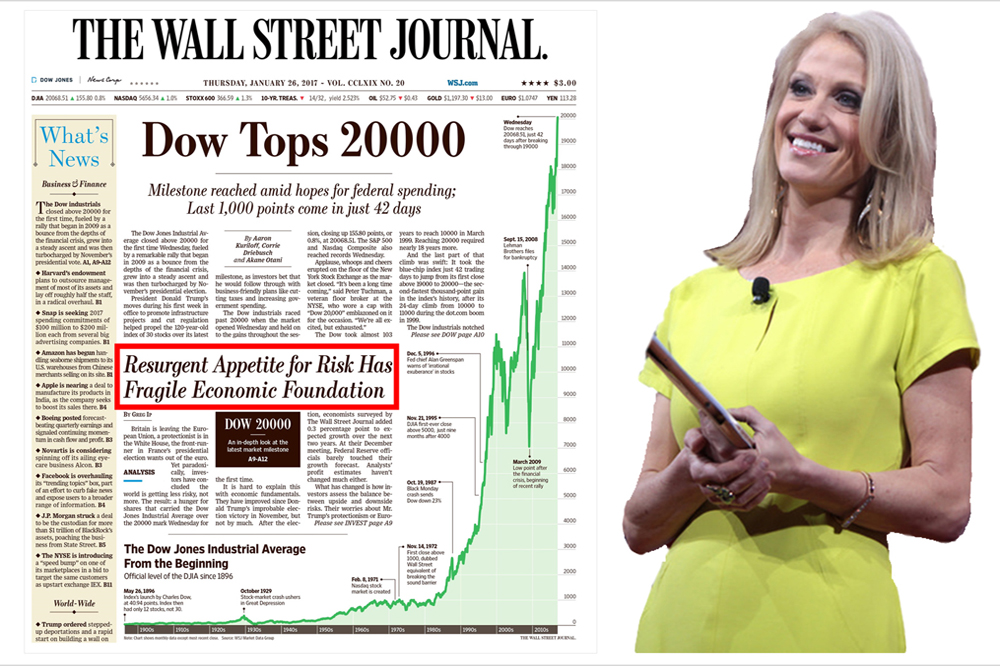 Alternative Facts Hit The Front Page Of The Wall Street Journal As Dow Breaks 20,000